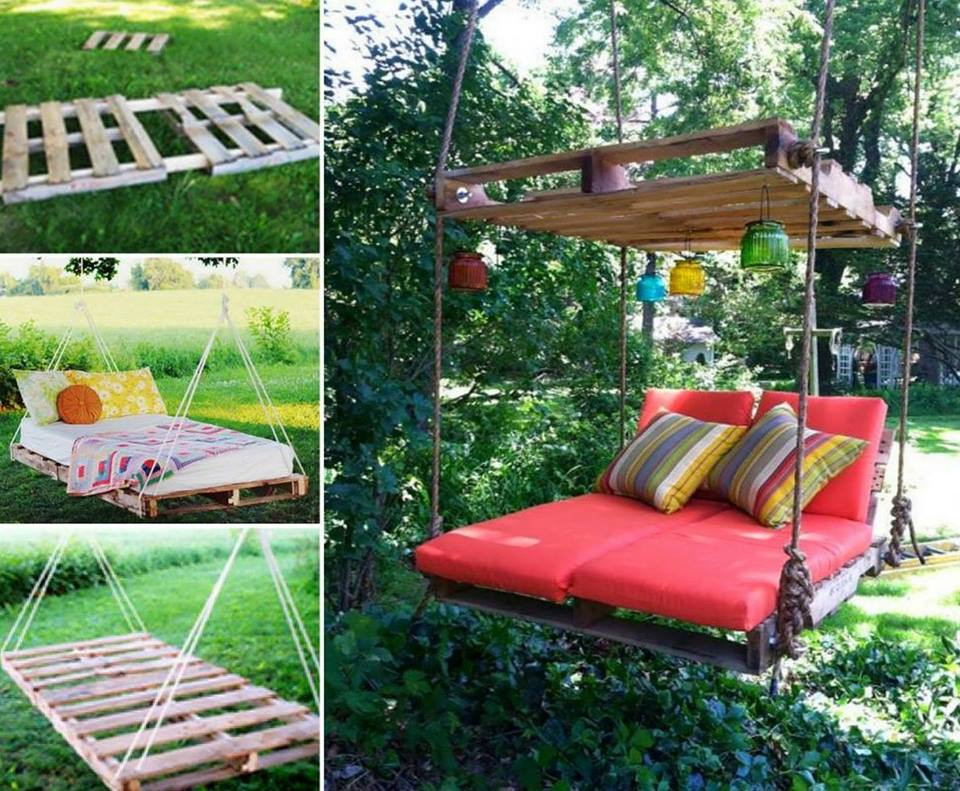 Best ideas about DIY Pallet Swing Bed . Save or Pin Wonderful DIY Sandbox with cover Now.