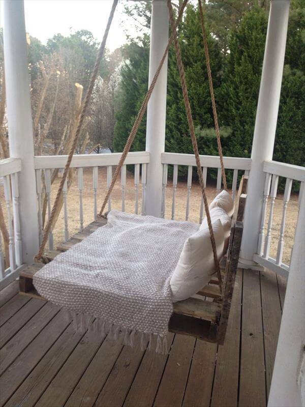 Best ideas about DIY Pallet Swing Bed . Save or Pin DIY Pallet Swing Bed Now.