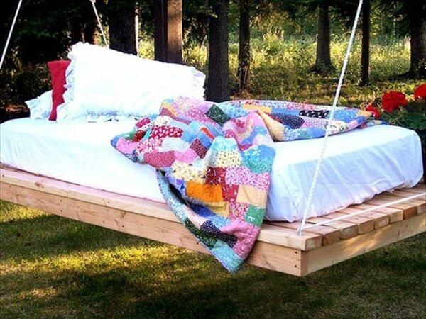 Best ideas about DIY Pallet Swing Bed . Save or Pin Recycle Used Pallets into Unique Pieces of Furniture Now.
