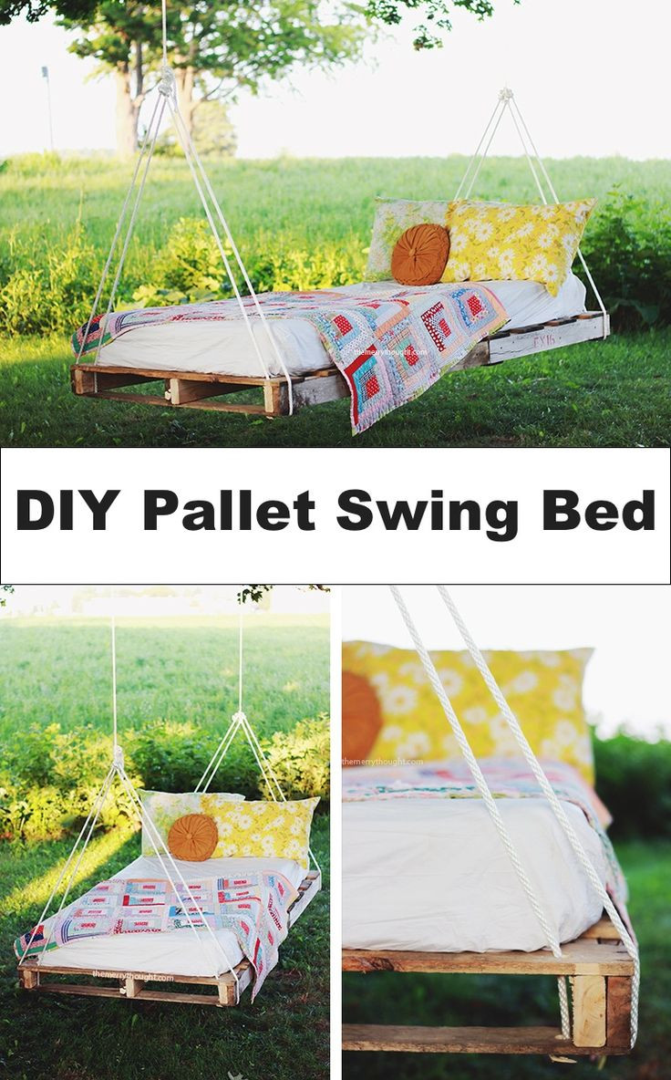 Best ideas about DIY Pallet Swing Bed . Save or Pin 523 best Pallet Projects images on Pinterest Now.