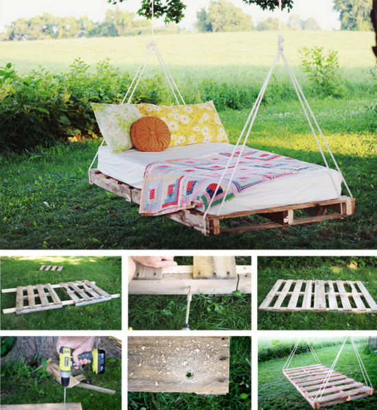 Best ideas about DIY Pallet Swing Bed . Save or Pin Pallet Swing Bed DIY Easy Video Instructions Lots Ideas Now.