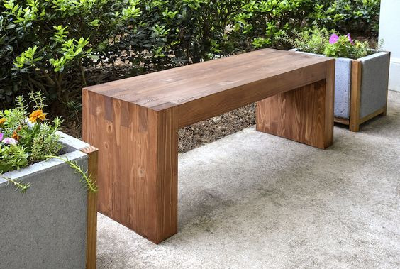 Best ideas about Diy Patio Bench . Save or Pin Remodelaholic 50 Fun Outdoor 2x4 Projects to DIY This Summer Now.