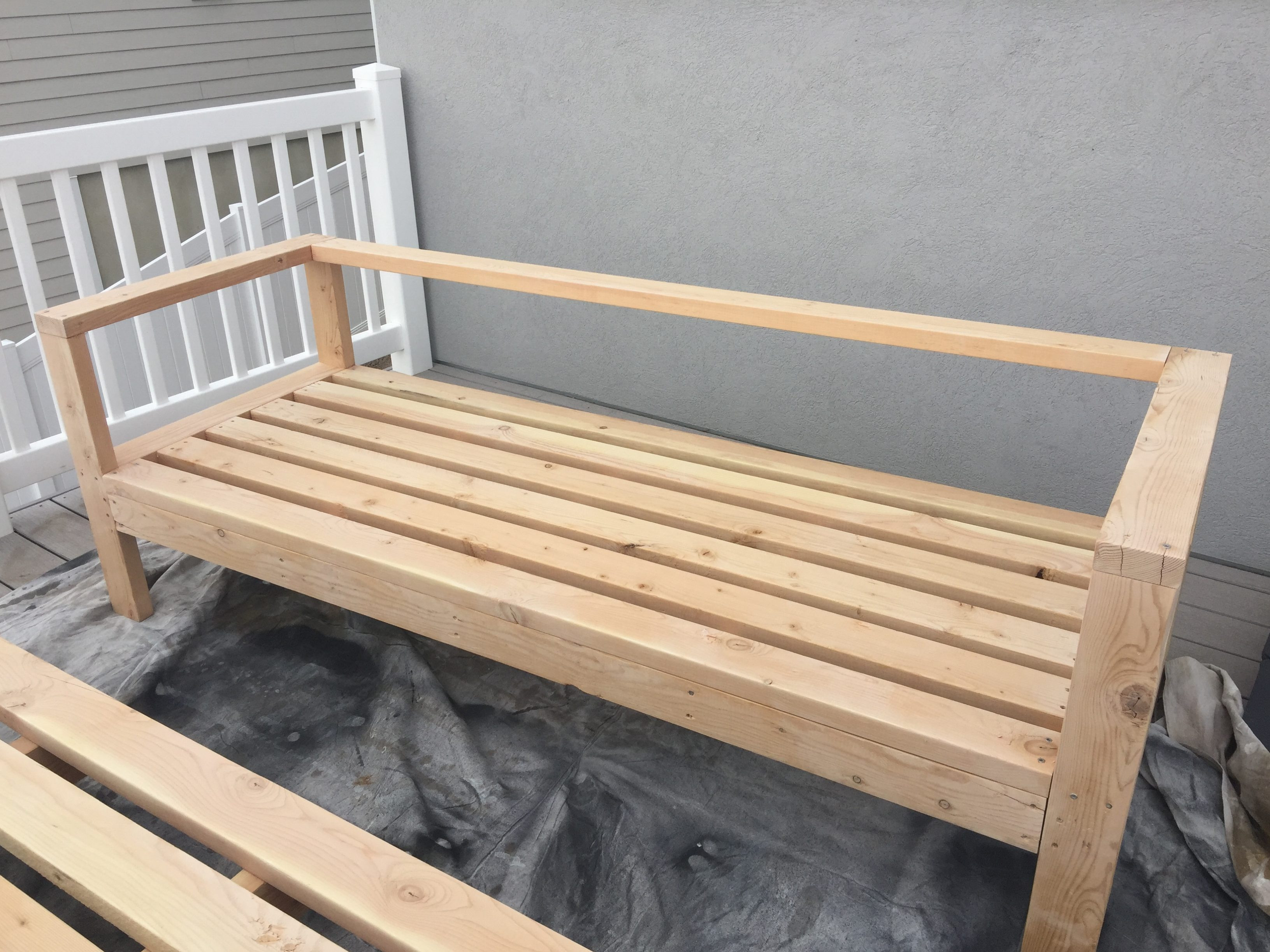 Best ideas about Diy Patio Bench . Save or Pin DIY Outdoor Furniture HoneyBear Lane Now.