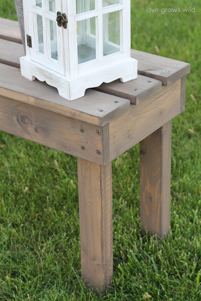 Best ideas about Diy Patio Bench . Save or Pin Easy DIY Outdoor Bench Love Grows Wild Now.