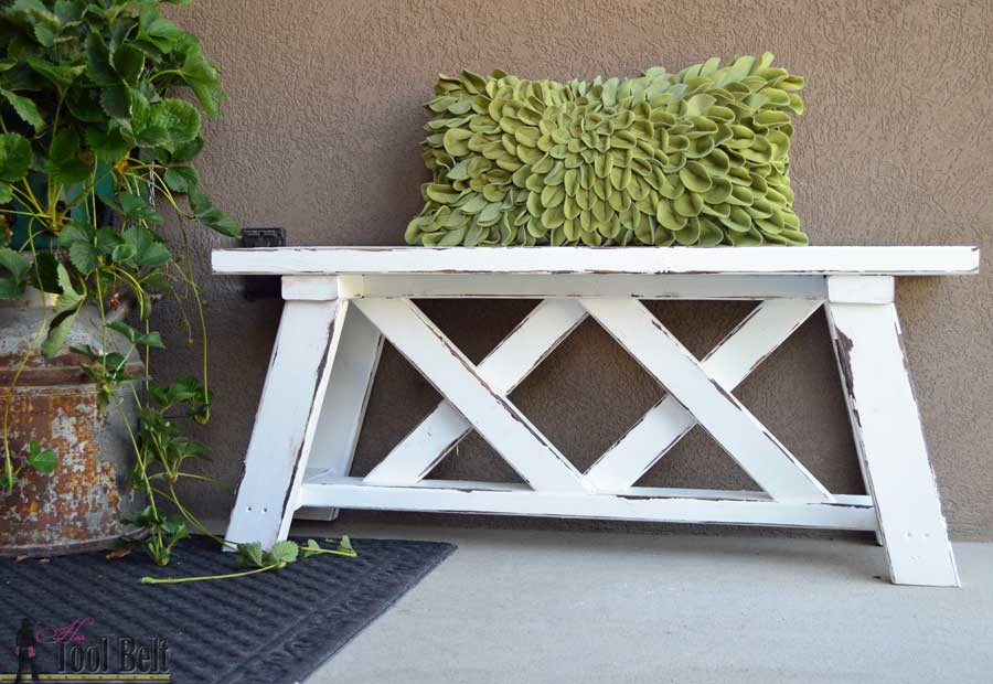 Best ideas about Diy Patio Bench . Save or Pin Easy DIY Outdoor Garden & Patio Furniture Now.