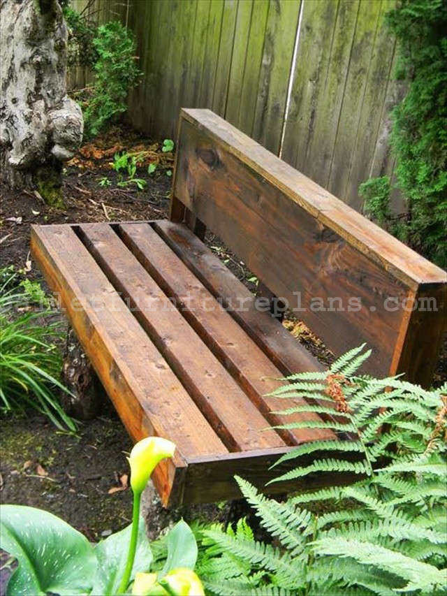 Best ideas about Diy Patio Bench . Save or Pin 15 DIY Outdoor Pallet Bench Now.