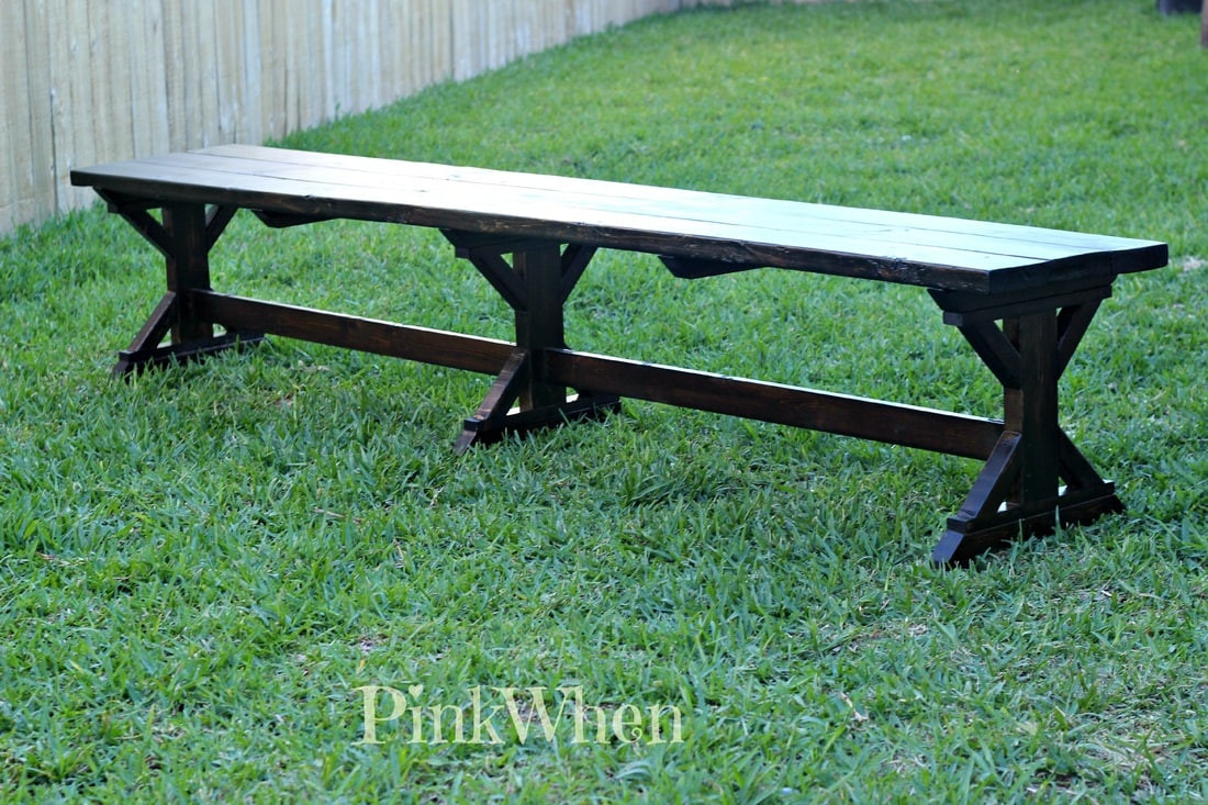 Best ideas about Diy Patio Bench . Save or Pin DIY $20 Outdoor Patio Bench PinkWhen Now.