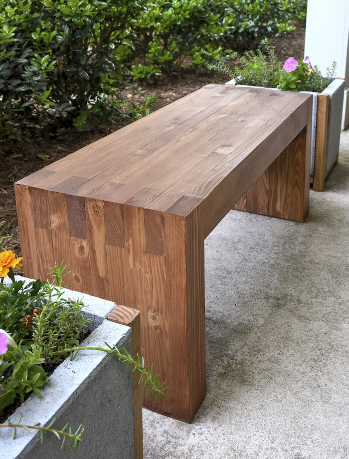 Best ideas about Diy Patio Bench . Save or Pin DIY How to Make Outdoor Bench Quiet Corner Now.