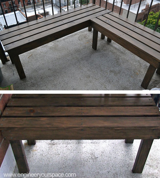 Best ideas about Diy Patio Bench . Save or Pin DIY Outdoor Wood Bench 6 Steps with Now.
