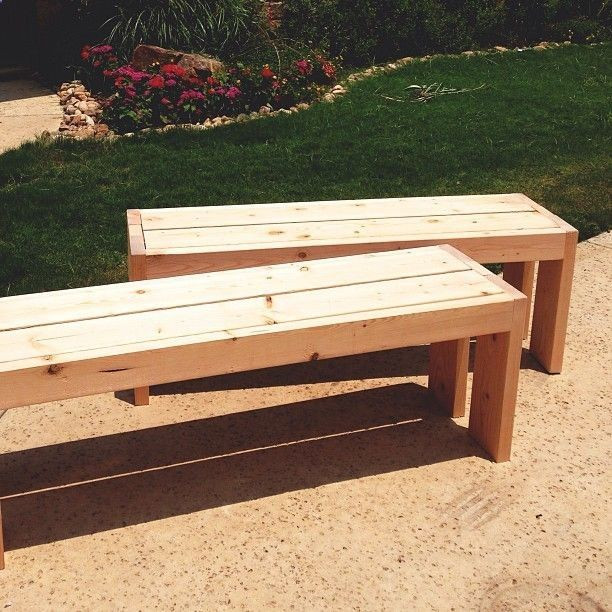 Best ideas about Diy Patio Bench . Save or Pin easy outdoor benches Gardening Ideas Now.