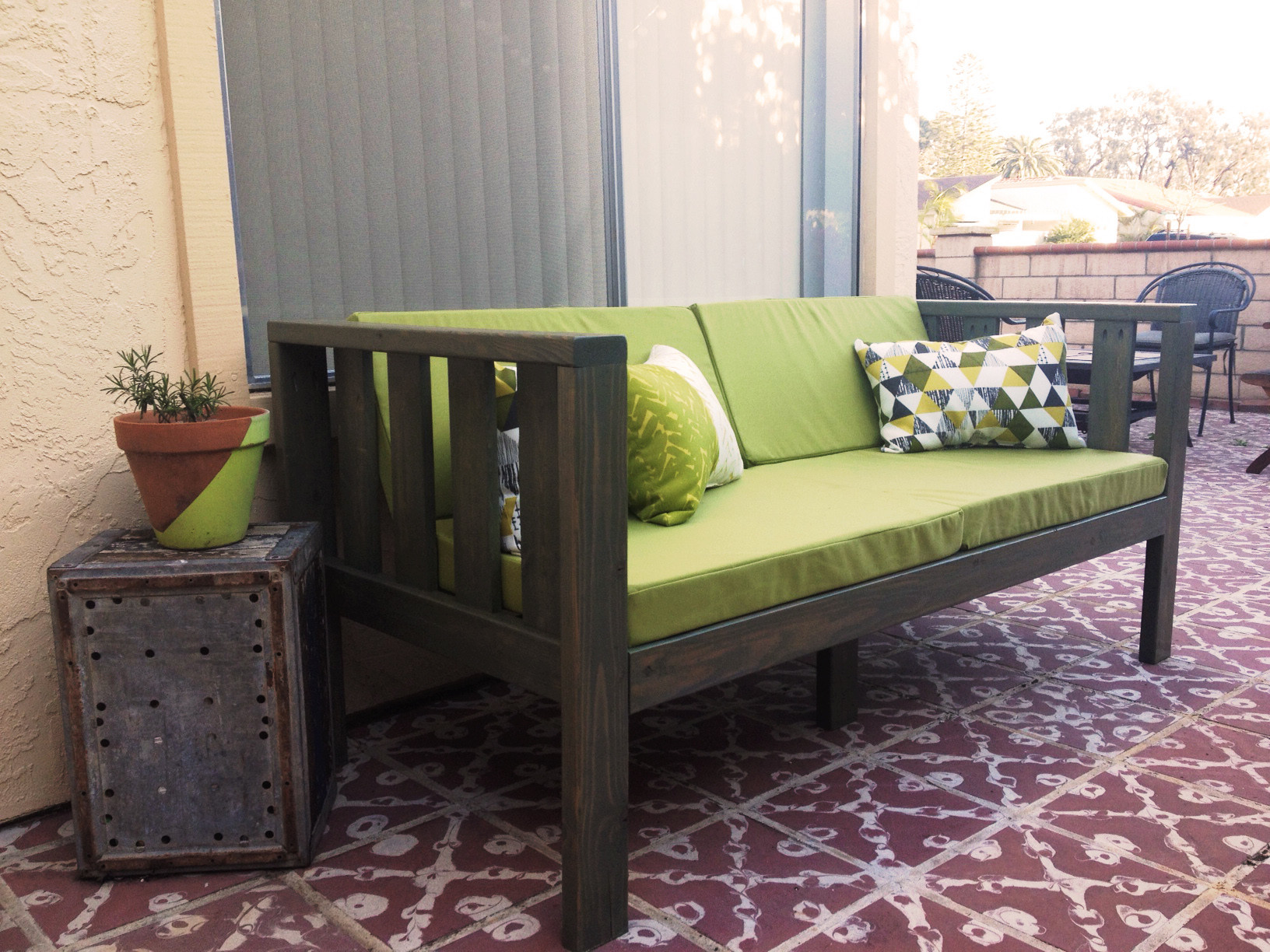 Best ideas about DIY Patio Cushions . Save or Pin Our DIY Patio Sofa – vivagood Now.