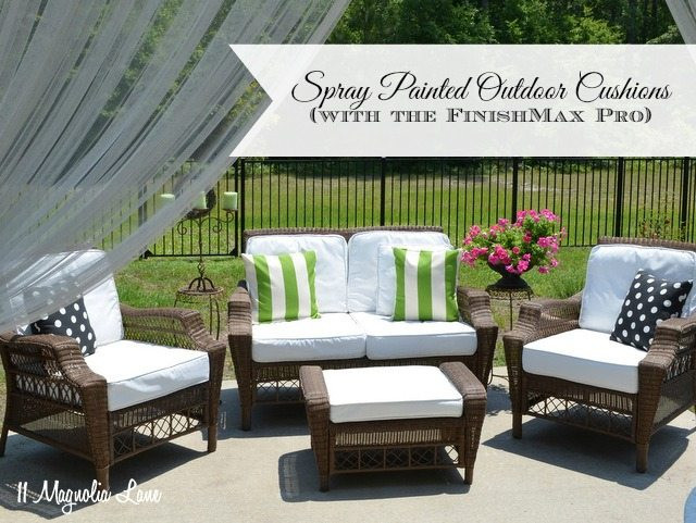 Best ideas about DIY Patio Cushions . Save or Pin DIY Painted Outdoor Cushions and a FinishMax Pro Giveaway Now.