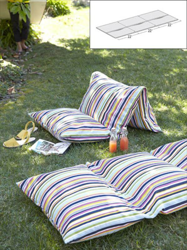 Best ideas about DIY Patio Cushions . Save or Pin 8 DIY Fun Easy Summer Craft Projects Now.