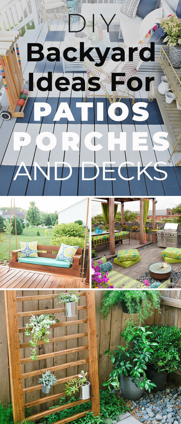 Best ideas about DIY Patio Decor Ideas . Save or Pin 12 DIY Backyard Ideas for Patios Porches and Decks • The Now.
