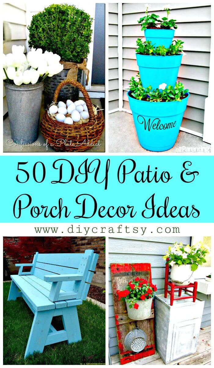 Best ideas about DIY Patio Decor Ideas . Save or Pin 50 Cool DIY Patio & Porch Decor Ideas DIY & Crafts Now.