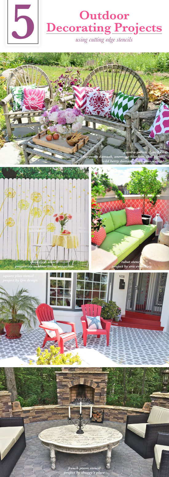Best ideas about DIY Patio Decor Ideas . Save or Pin 5 Outdoor Decorating Projects Using Stencils Now.