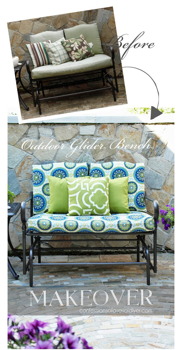 Best ideas about DIY Patio Furniture Cushions . Save or Pin Outdoor Glider Bench Makeover Now.