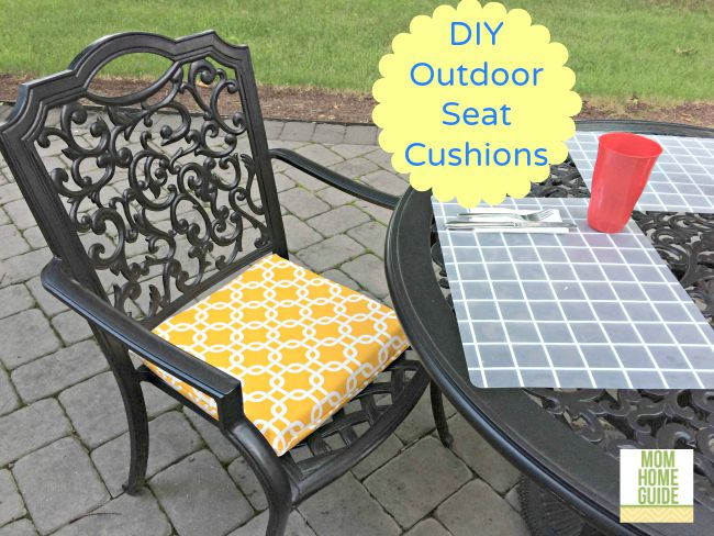 Best ideas about DIY Patio Furniture Cushions . Save or Pin DIY Outdoor Seat Cushions Now.