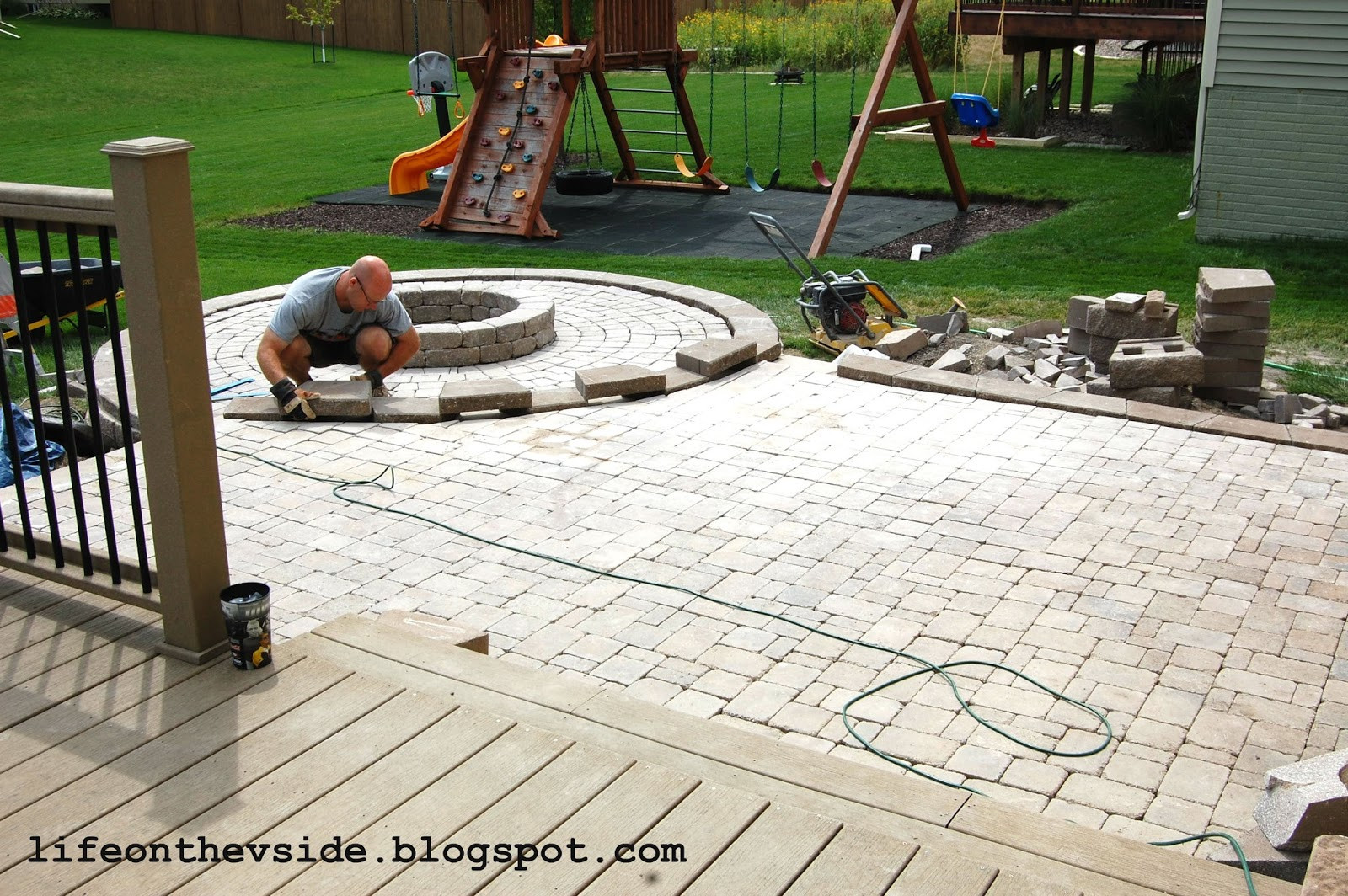 Best ideas about DIY Pavers Patio . Save or Pin the V Side He Built Me a Patio And I Liked It Now.
