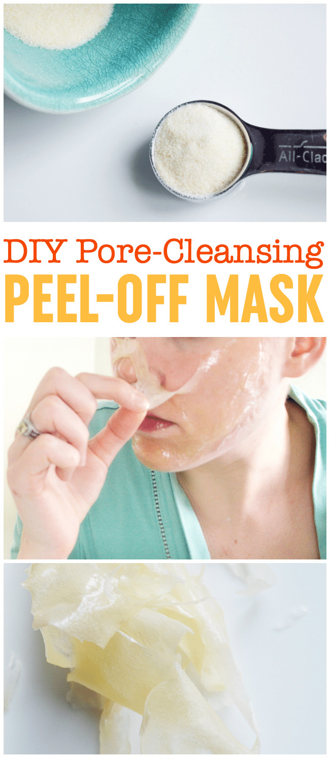 Best ideas about DIY Peel Off Mask . Save or Pin DIY Peel f Mask Pore Cleansing Blackhead Busting Face Now.