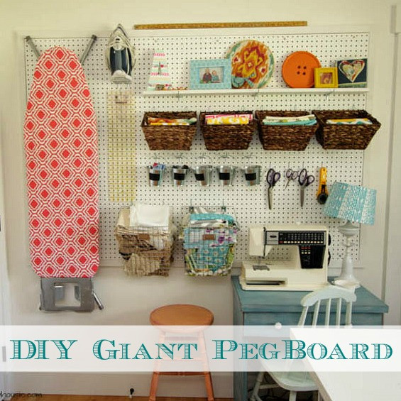 Best ideas about DIY Pegboard Tool Organizer . Save or Pin How to Install a DIY Giant Pegboard Wall Craft Room Now.
