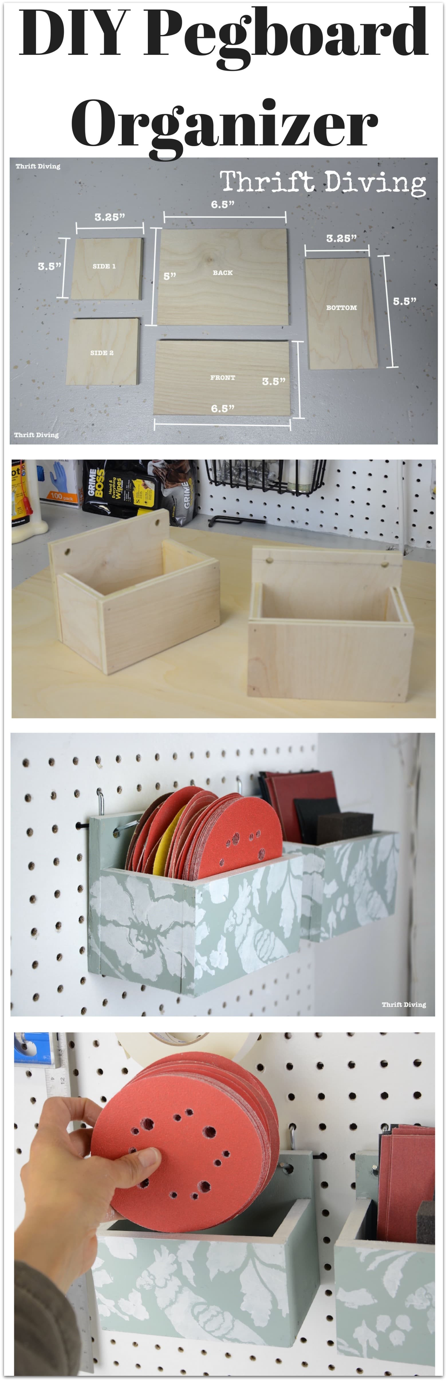Best ideas about DIY Pegboard Tool Organizer . Save or Pin How to Make a DIY Pegboard Organizer For Your Garage or Now.