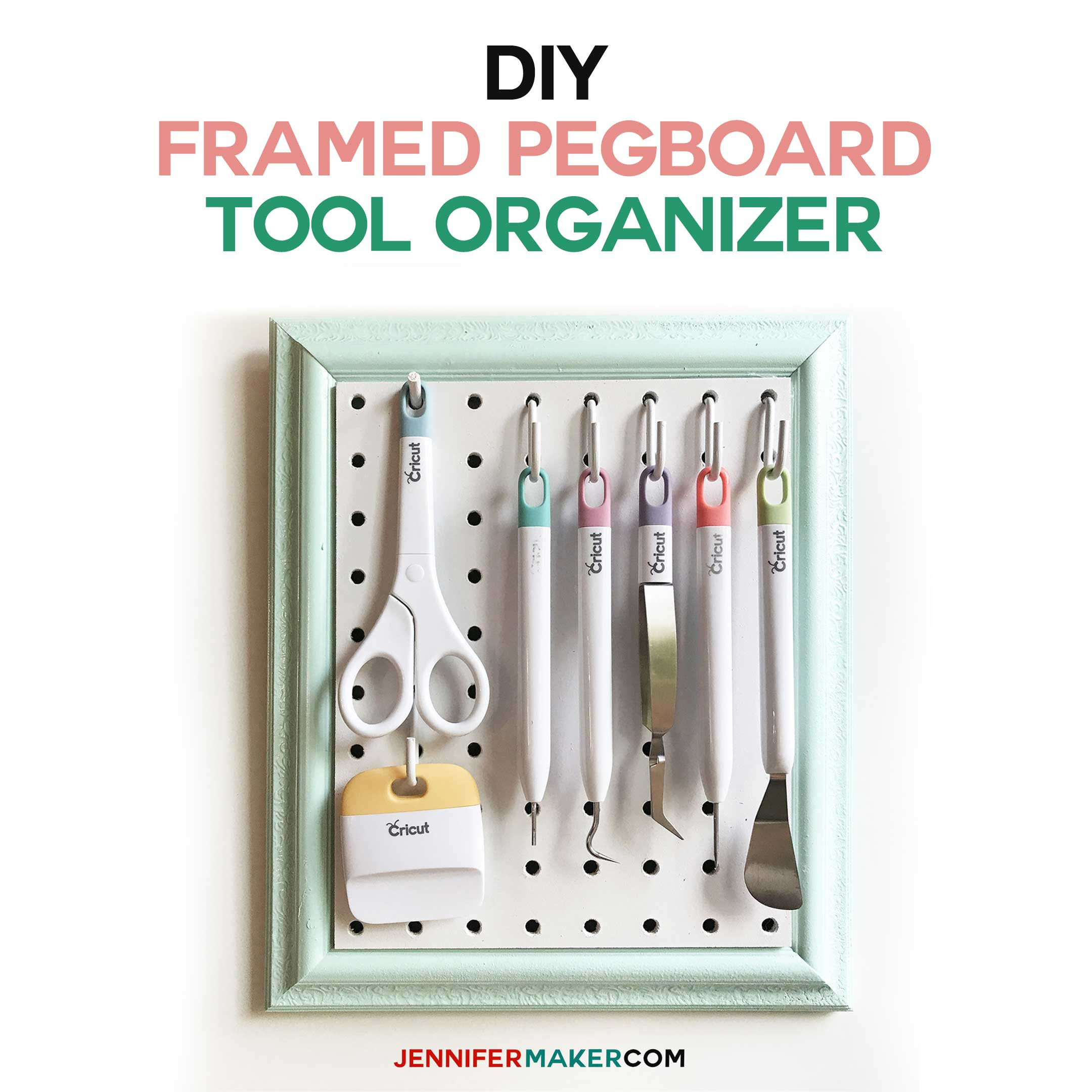 Best ideas about DIY Pegboard Tool Organizer . Save or Pin DIY Framed Pegboard Craft Organizer for Tools Jennifer Maker Now.