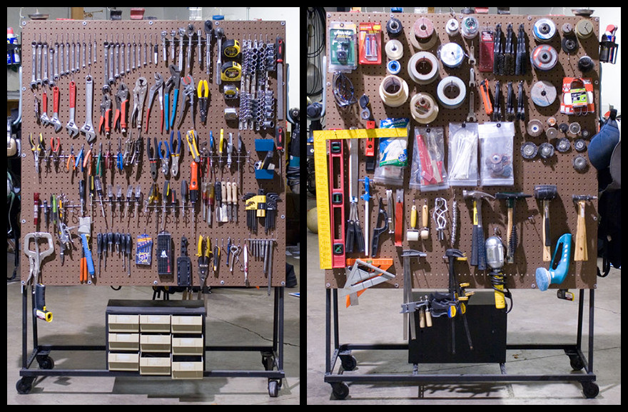 Best ideas about DIY Pegboard Tool Organizer . Save or Pin DIY Rolling Pegboard Tool Storage Core77 Now.