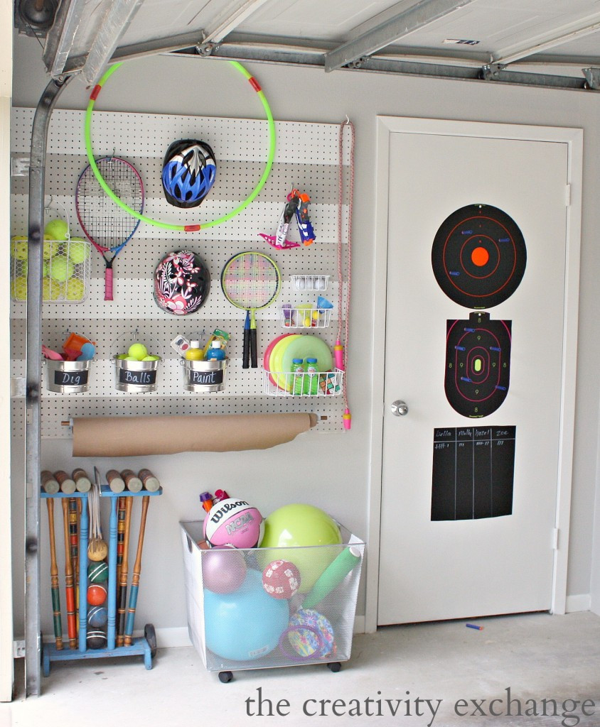 Best ideas about DIY Pegboard Tool Organizer . Save or Pin DIY Garage Pegboard Storage for Outdoor Toys Now.