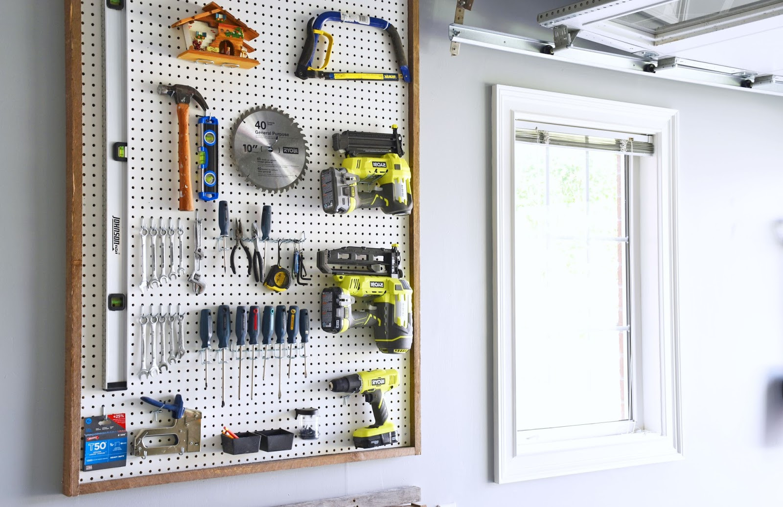 Best ideas about DIY Pegboard Tool Organizer . Save or Pin Woman in Real Life The Art of the Everyday Garage Now.