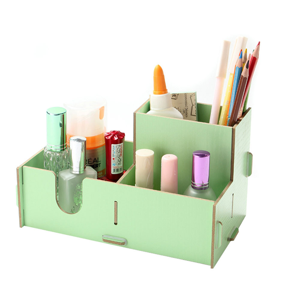Best ideas about DIY Pencil Organizer . Save or Pin Three partments DIY Wood Desk Pencil Makeup Storage Now.