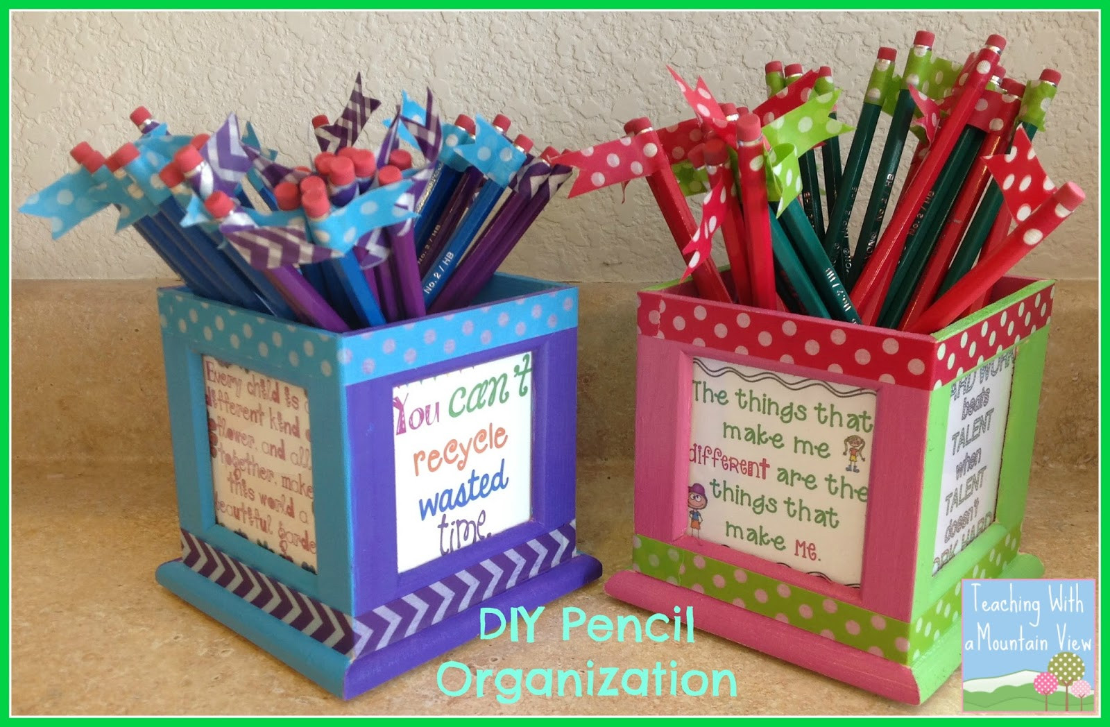 Best ideas about DIY Pencil Organizer . Save or Pin Teaching With a Mountain View DIY Pencil Organizer Now.