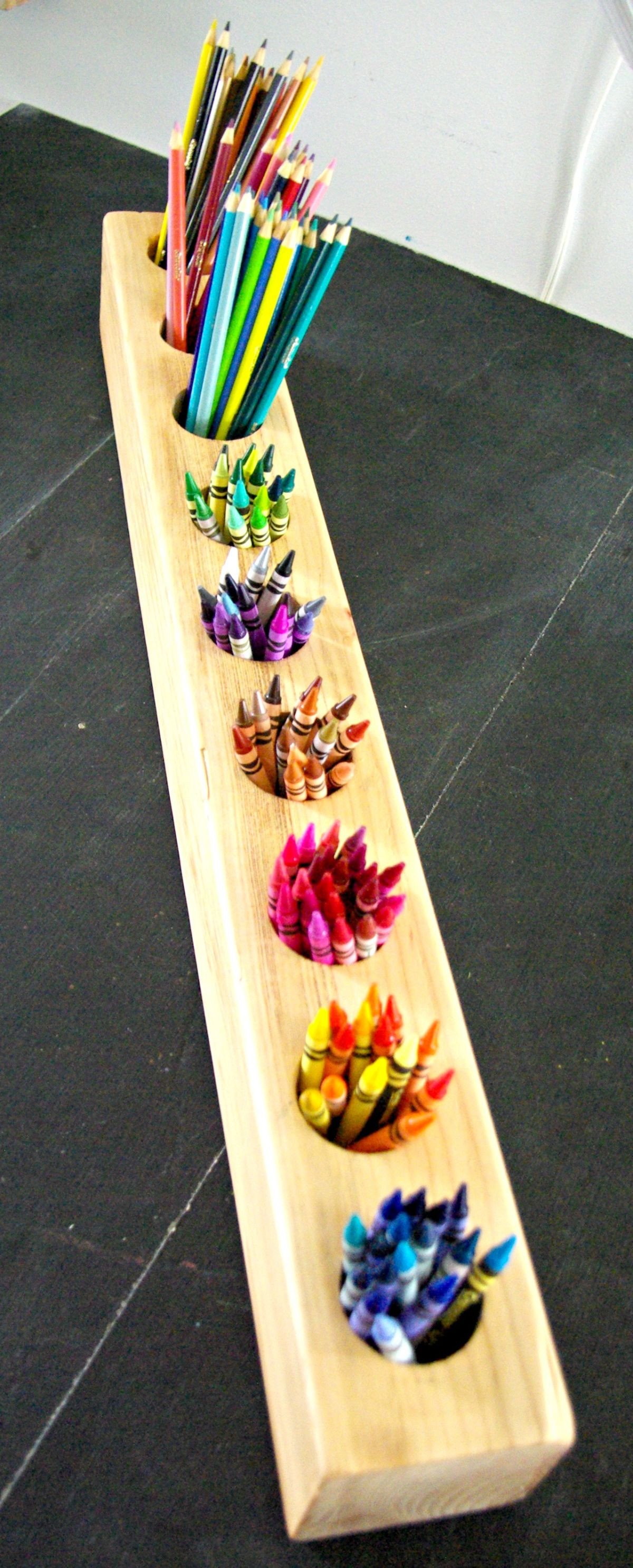 Best ideas about DIY Pencil Organizer . Save or Pin Rustic DIY Pencil Holder Now.