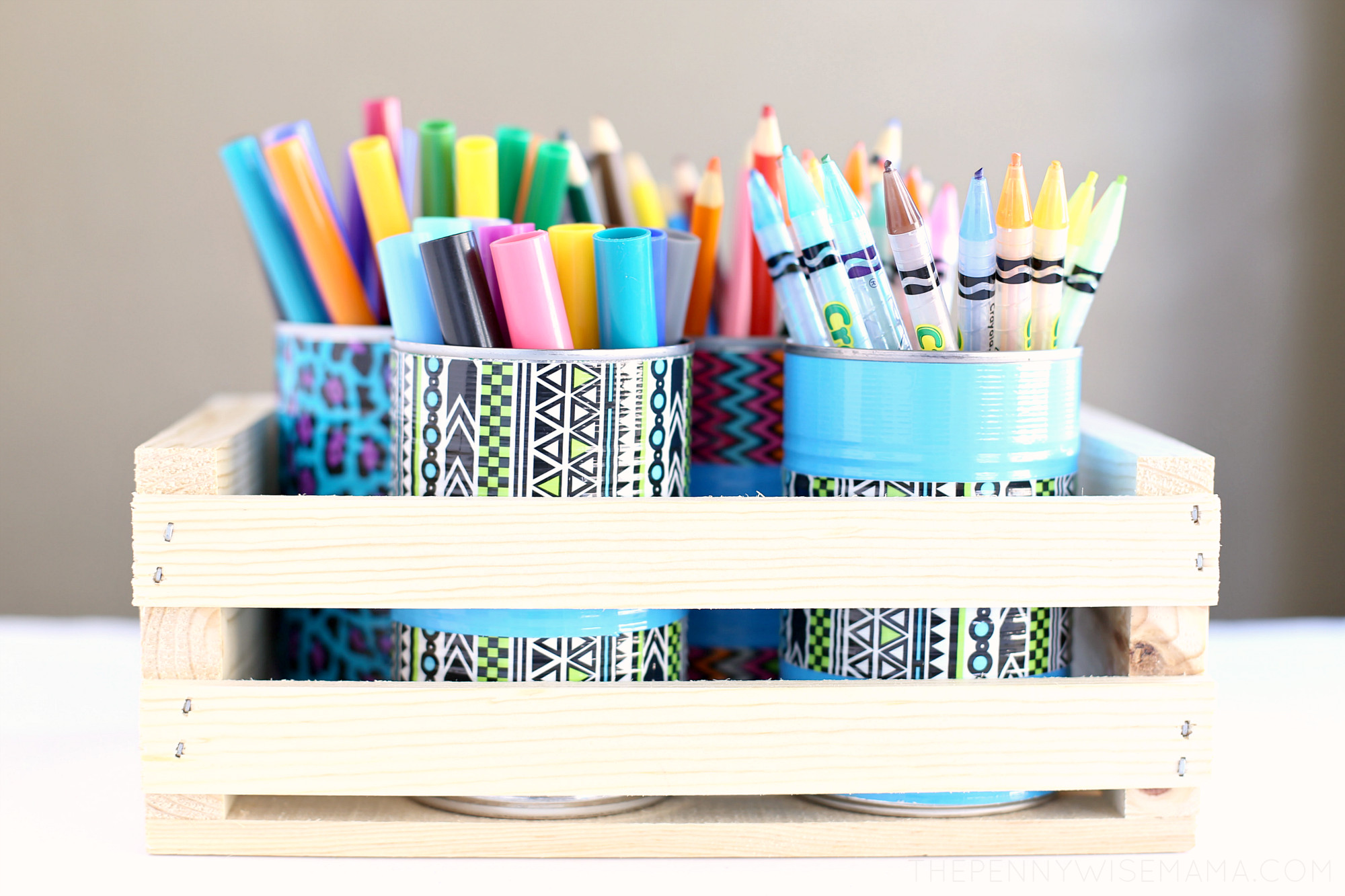 Best ideas about DIY Pencil Organizer . Save or Pin DIY Duck Tape Pencil Holder & Art Organizer Giveaway Now.