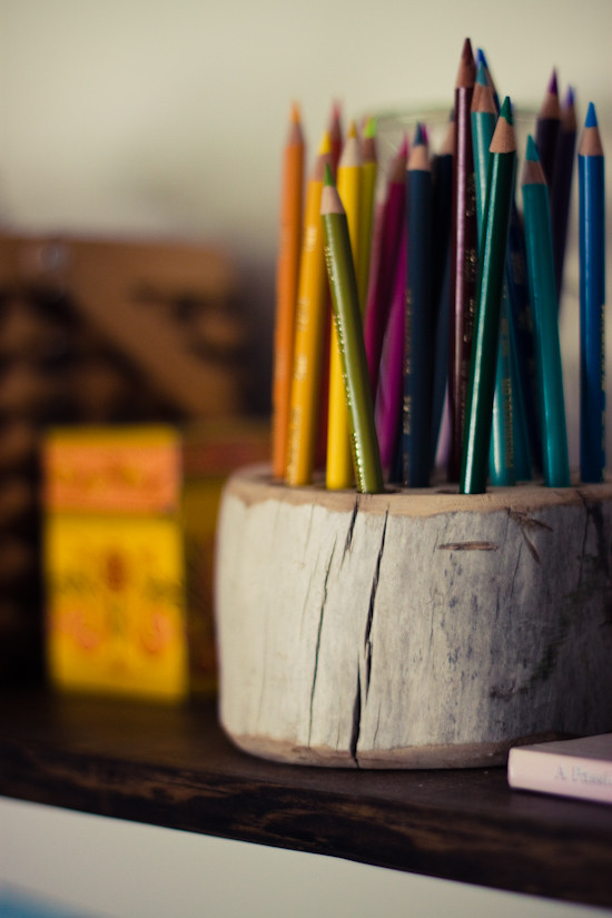 Best ideas about DIY Pencil Organizer . Save or Pin Strawberry Chic DIY Tuesday Rustic Pencil Holder Now.