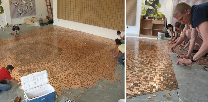 Best ideas about DIY Penny Floor . Save or Pin Penny Floor Now.