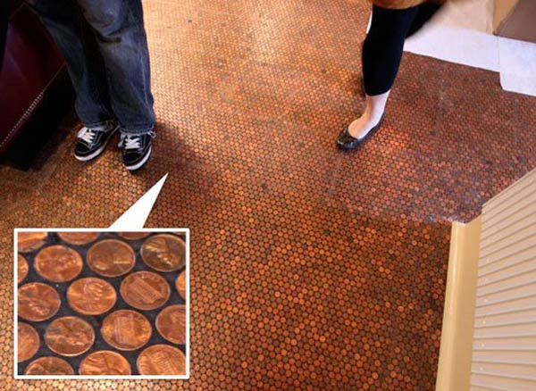 Best ideas about DIY Penny Floor . Save or Pin Pick a penny project 9 trendy DIYs for your loose change Now.