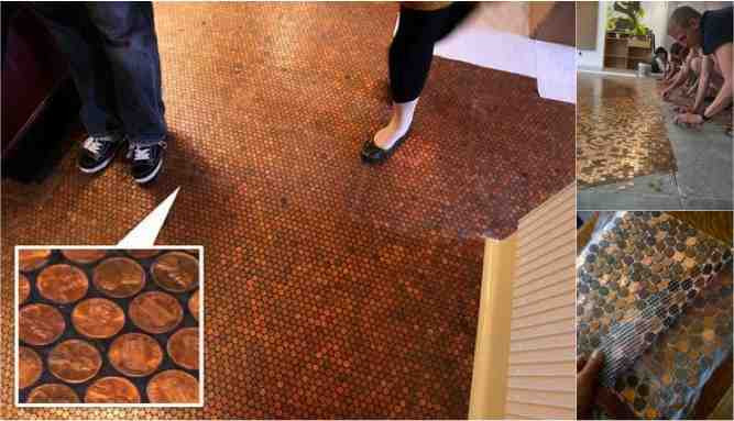 Best ideas about DIY Penny Floor . Save or Pin DIY Penny Floors And A Few Nickels Too Do It Yourself Now.