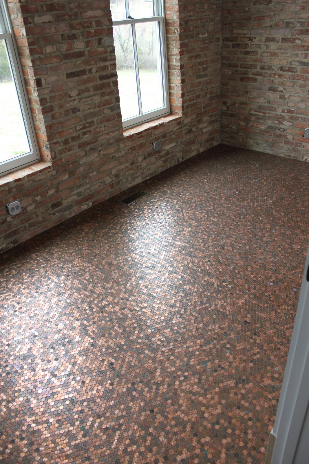 Best ideas about DIY Penny Floor . Save or Pin Penny floor home Now.