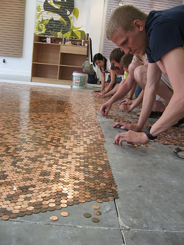 Best ideas about DIY Penny Floor . Save or Pin 18 Creative DIY Ideas That Revive Old Objects Now.