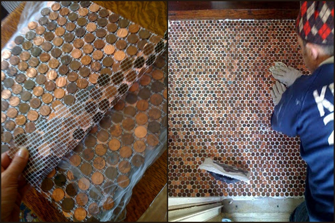Best ideas about DIY Penny Floor . Save or Pin True Blue Me & You DIYs for Creatives Now.