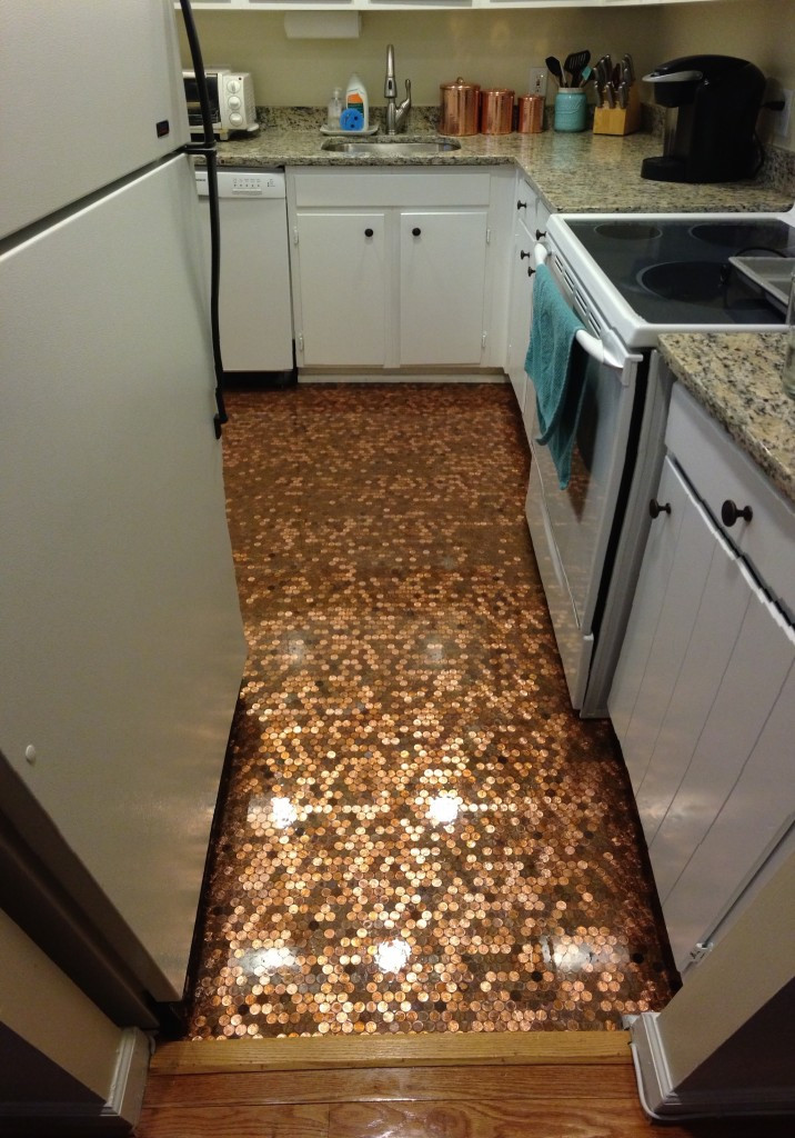 Best ideas about DIY Penny Floor . Save or Pin How To Install A Copper Penny Floor A Made in USA DIY Now.