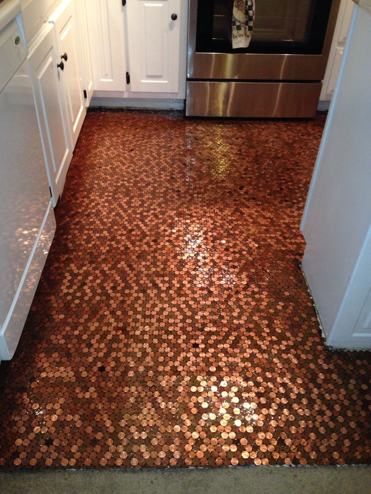 Best ideas about DIY Penny Floor . Save or Pin Flooring Inspiration Now.