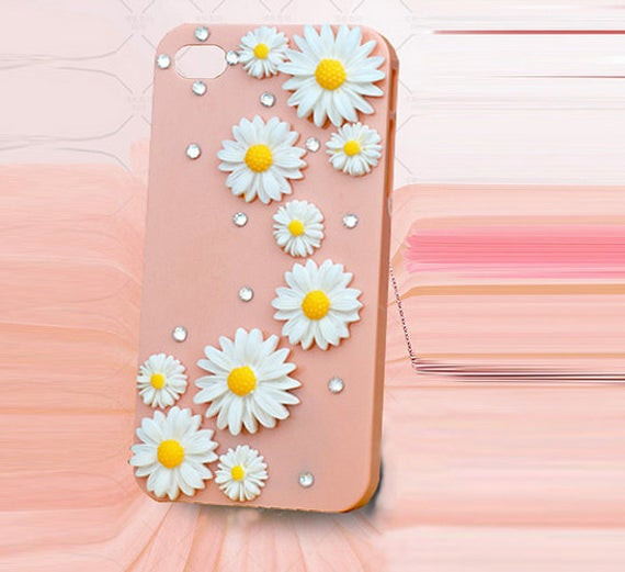 Best ideas about DIY Phone Case Kit . Save or Pin Items similar to Yellow white Flower diy deco phone case Now.