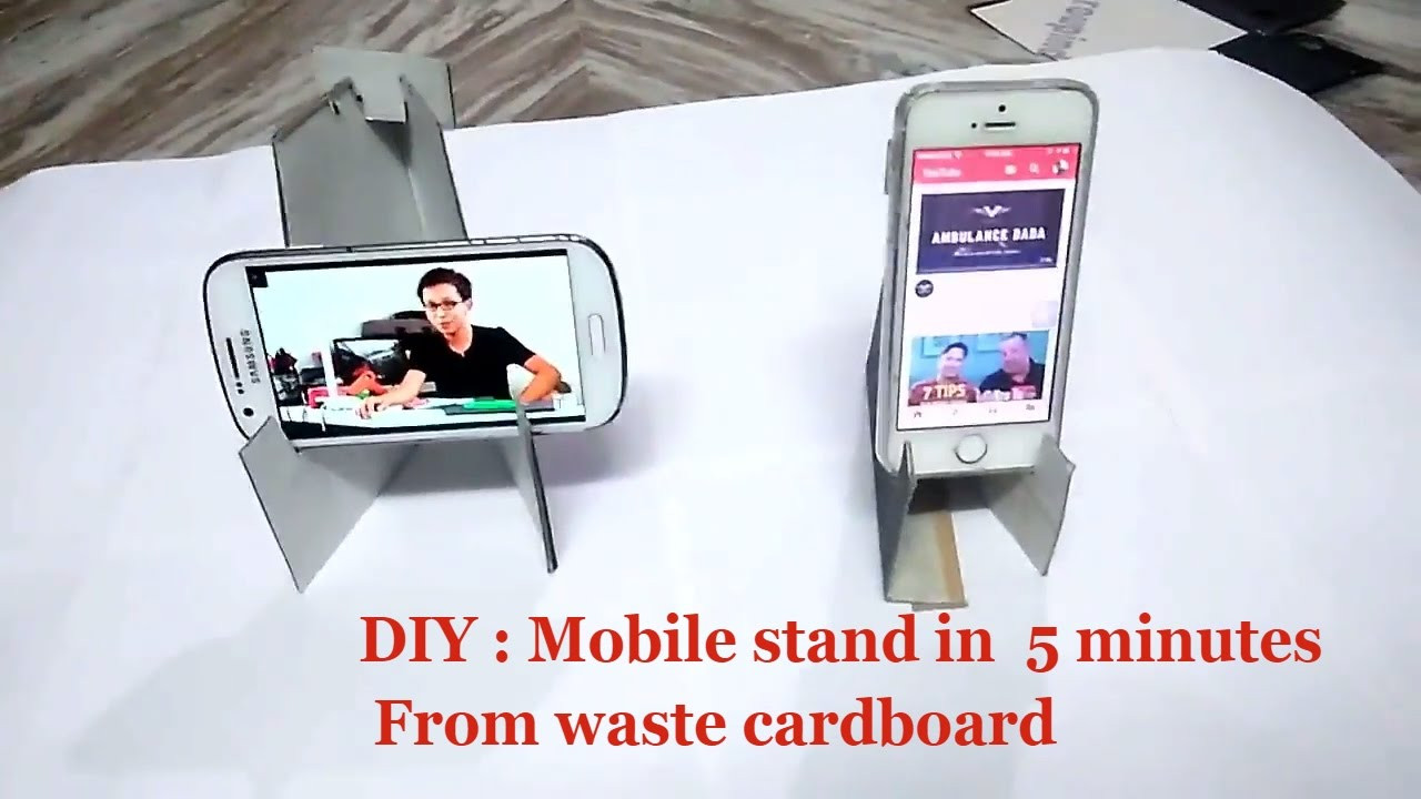Best ideas about DIY Phone Stand For Desk . Save or Pin DIY craft Mobile phone Stand for Desk How to make mobile Now.