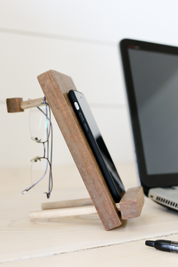 Best ideas about DIY Phone Stand For Desk . Save or Pin DIY Cell Phone Stand and Accessory Holder Tidbits Now.