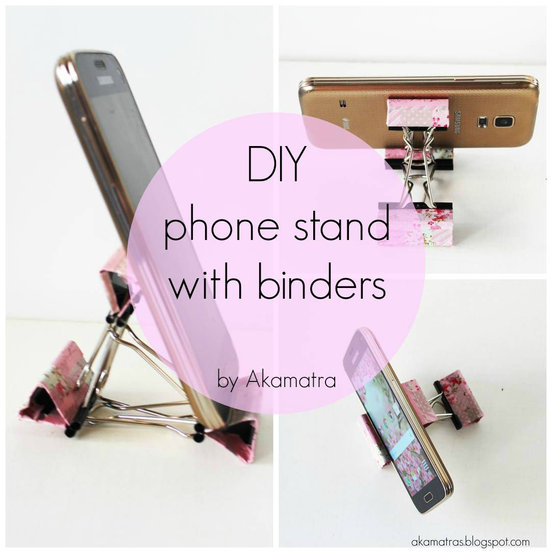 Best ideas about DIY Phone Stand For Desk . Save or Pin DIY smart phone stand with binders Full tutorial Akamatra Now.