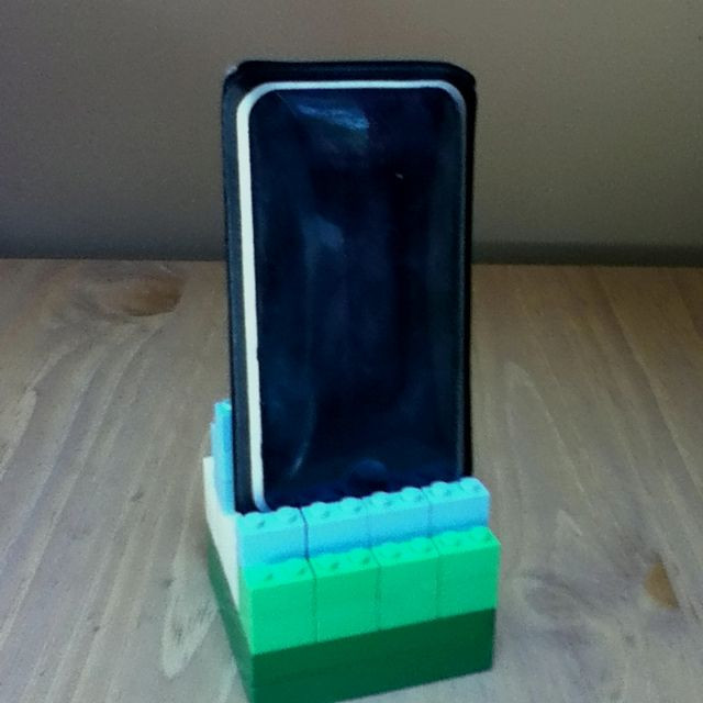 Best ideas about DIY Phone Stand For Desk . Save or Pin DIY iPod phone stand made from Legos my version took Now.