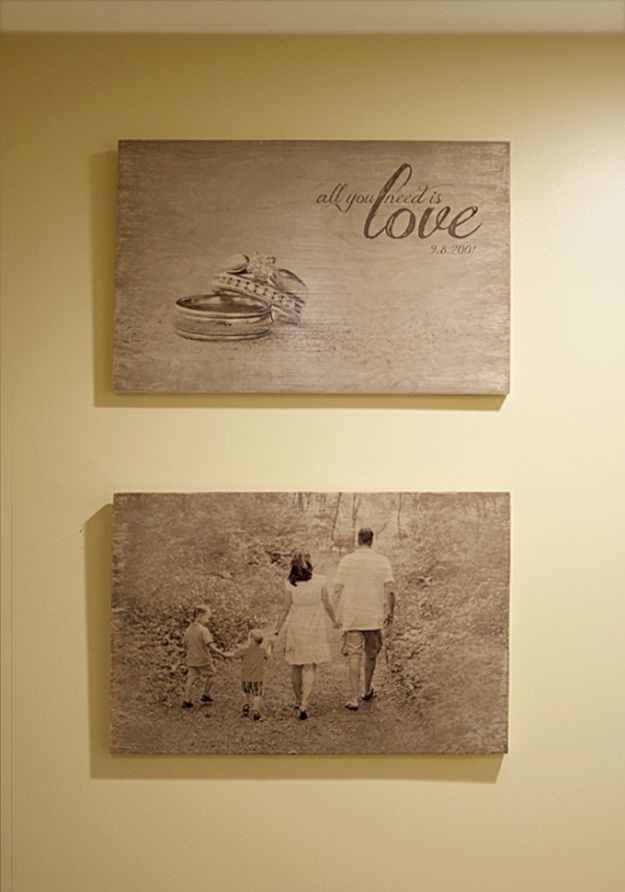 Best ideas about DIY Photo Transfer To Wood . Save or Pin 13 Simple DIY Home Projects For Country Lovers Now.