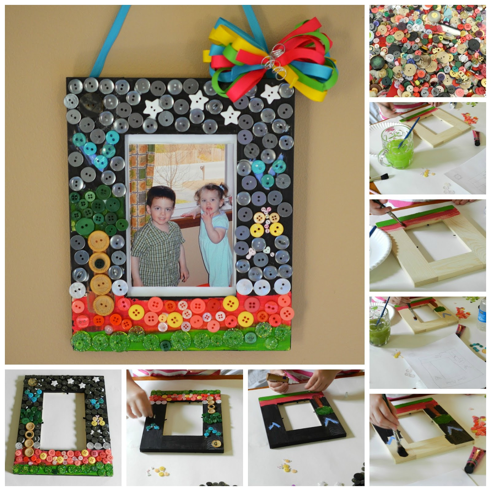 Best ideas about DIY Picture Frame For Kids . Save or Pin Sewing and Crafting with Sarah Summer Craft for Kids DIY Now.
